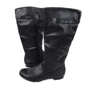 New Style & Co. Mabbel Black Tall Boots Sz 6